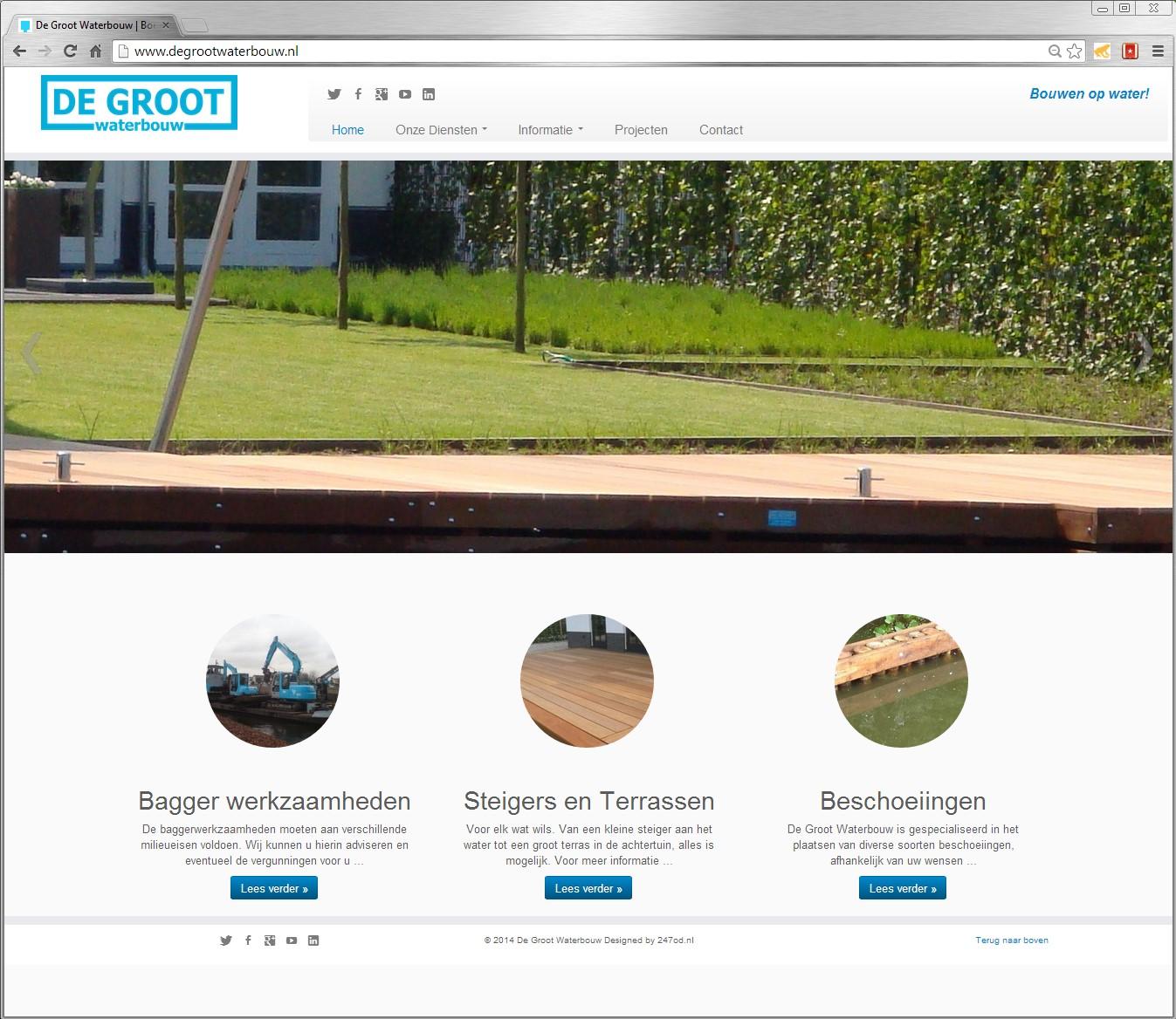 Degrootwaterbouw.nl gemaakt door 247od