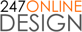24/7 Online Design Logo